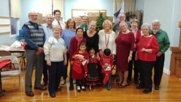 Members of Douvre Lodge pose at their 2017 Christmas party