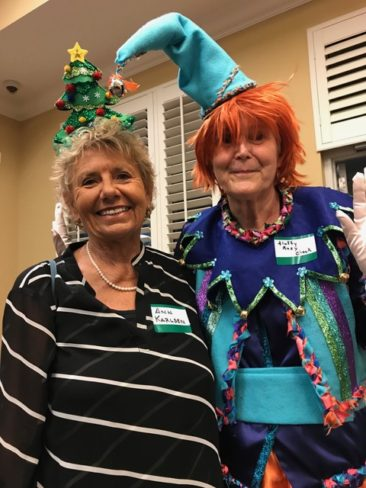 Gulf Coast Viking lodge Juletrefest fun enjoyed by Anne Karlsen and Marcia Erickson