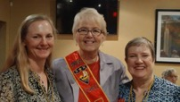 Gulfstream Lodge - From left: VP Nancy Kaufman, Zone Director Ingrid Hammen, President Chris Taylor
