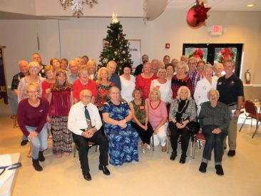Gulfstream Lodge members are pictured at their 2017 Jule Fest