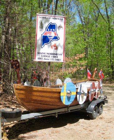Maine Nordmen's own Viking ship was a part of their parade!