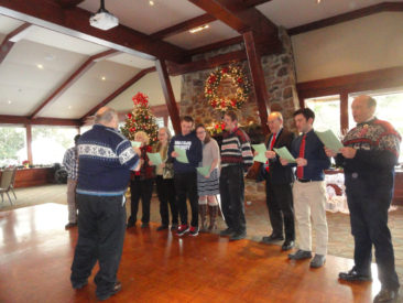 The Restauration Lodge Norwegian language class performs for members and guests at their 2017 Christmas party
