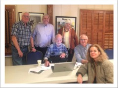 Washington Lodge members at January 2017 meeting - From left: Joel Myklebust, John Norquist,  Burt Koske, JoAnn Carlson, Dave Carlson, Shelley Berg Mitchell