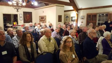 Washington Lodge members turn out in large numbers to their November meeting to hear Dr. Jennifer Paxton's program on Vikings in Ireland