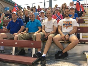 Members of Zone 4 lodges Troll, Norrona and Hudson Valley all enjoying a Hudson Valley Renegades baseball game!